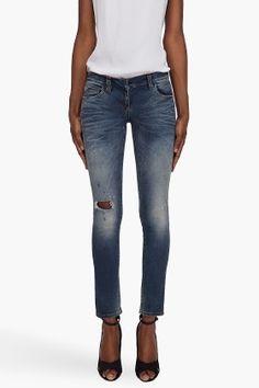 Balmain Worn Skinny Jeans for women - StyleSays
