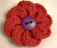 Pretty flower with button center