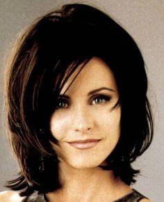 Cute Short Medium Layered Haircut Courteney Cox Arquette