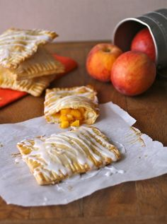 """Fresh Peach Pie """"Pop Tarts"""" This settles it.. I must get peaches at the farmers market tomorrow! I would use the crust recipe from Chef Chloe who bakes vegan.. its easy AND delicious... Hubby would love these!!"""
