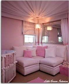 Love this corner sitting area & of course this whole nursery!
