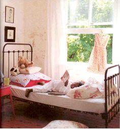 I love this bohemian inspired little girls room!