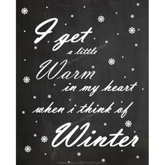 Winter Quote Chalkboard
