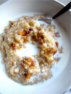 Family Feedbag: Peaches and cream oatmeal