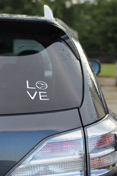 Georgia Southern Car Decal LOVE by SouthernMamaDesign on Etsy, $6.50 I want one