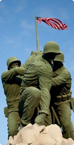 The prototype of the Iwo Jima memorial at the Marine Military Academy in Harlingen, TX. Impressive!