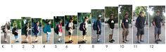 Love this idea - a photo of your son/daughter taken on each first day of school each year....