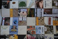 a paper quilt made with scraps that = memories