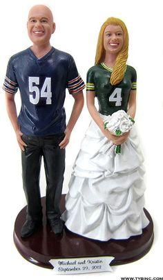 BobbleGr.am - Football Fans Wedding Cake Topper, $184.99 (http://www.bobblegr.am/football-fans-wedding-cake-topper/)