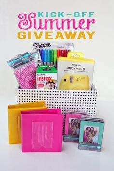 Kick Off Summer Giveaway! Includes an adorable yellow Instax mini 8 camera!!