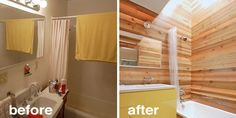 Remodel with wood panelling