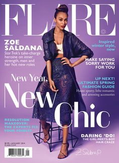 Zoe Saldana for Flare