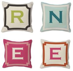 Pretty pillows for needlepoint