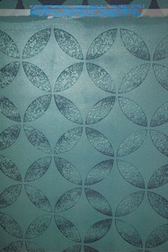 How to stencil on a textured wall via MakelyHome.com