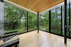 Photo 11 of 15 in A Blackened Steel and Glass House Outside of Chicago Hits the Market for $825K - Dwell