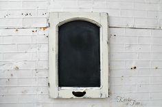 DIY:: Shabby Antique Cabinet Door Chalkboard