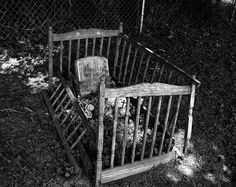 creepi, child grave, cemetari, crib, sad