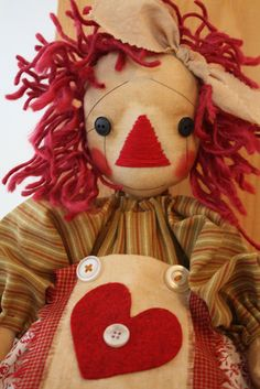 Raggedy  ann doll Sewing Pattern