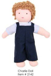 A doll with hair that can be styled and dolls that can be changed is perfect at this age.  Boys might be starting to walk away from dolls and will play mostly with the small wooden ones that can be used with block buildings and a dollhouse.