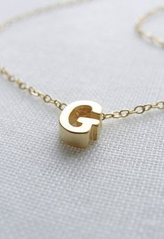 Tiny Gold Letter Necklace gold initial necklace