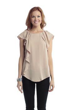 blouses, fashion, style, cloth, side ruffl, ruffl blous, closet, flowi blous, ruffl flowi