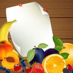 Fresh Fruits vector 03