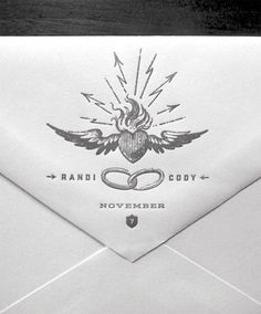 Envelope #wedding #invite #invitation #design #printing #graphic design
