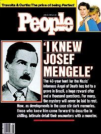 1985 COVER STORY The Life and Crimes of a Nazi Doctor Josef Mengele    Josef Mengele Experiments Survivors