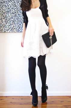 White Dress, Black Everything Else!