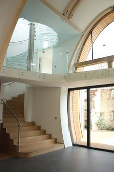 Downley House on the South Downs in Hampshire.  Architects: Birds Portchmouth Russum, London