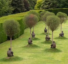 Jaume Plensa - Heart of Trees 5, exhibition at the Yorkshire Sculpture Park