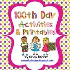 This download is for a packet of activities and printables to use on the 100th Day of School.  Included in the 63 pages are the following:Parent I...