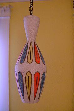 Vintage swag lamp.