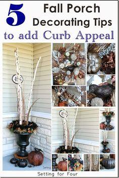 craft stuff, fall decor, craft decor, porch decorating, fall porches, diy, holiday craft, decorating tips, halloween