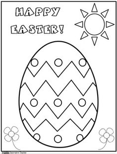 Easter Coloring Page Freebie by Innovative Teacher #holiday #egg