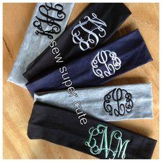 Monogrammed headband by craftsbygigi on Etsy, $6.00