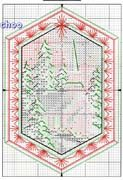 Schematic cross stitch Christmas ornaments 1n