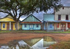 The ghost town just outside of Brenham, Texas
