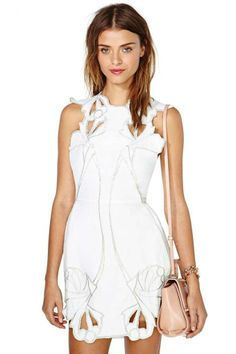 Alice McCall Sea Rose Dress - White