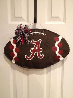 Alabama Football Burlap Door Hanger