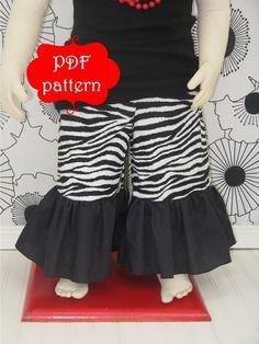 Ruffle Pants Sewing Pattern Girls
