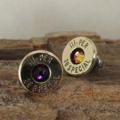 Multicolored   Bullet  Earrings   38 SPL Stud.
