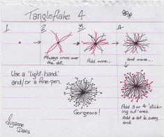 Tangleflake 4 by sheridanwild, via Flickr