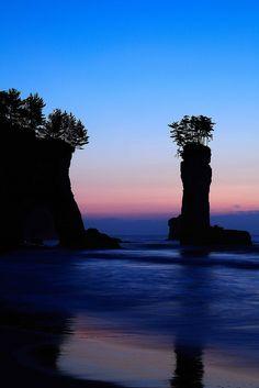 Sunrise, Tomioka coast, Fukushima, Japan