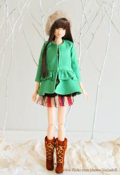 jiajiadoll green layer coat for Momoko misaki or by jiajiadoll, $35.00