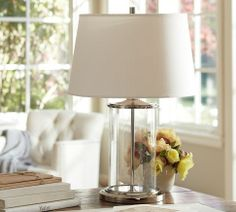 2 glass Table Lamps