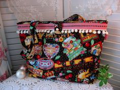 Quilted Tote - Mary Engelbreit fabric - ebay