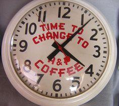 Old advertising clock.
