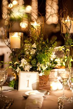 love centerpiece and table settings