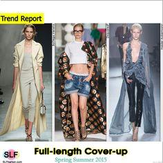 Full-length Cover-up Style Trend for Spring Summer 2015.Bottega Veneta, Dsquared², and Haider Ackermann #Spring2015 #SS15